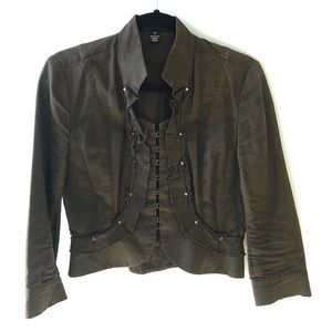 Club Monaco Cropped Cotton Jacket